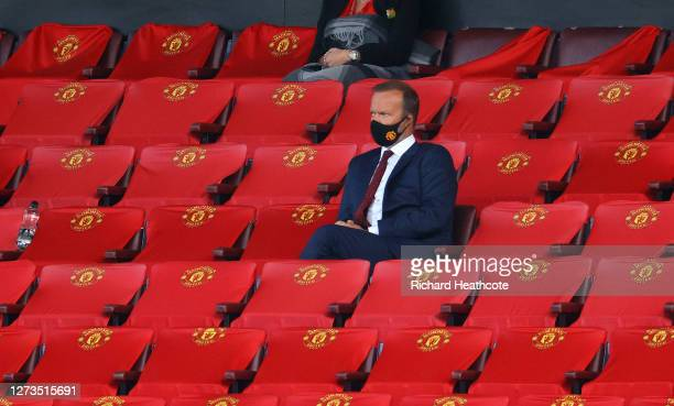 Ed Woodward, Executive Vice-Chairman of Manchester United looks on from the stands during the Premier League match between Manchester United and...