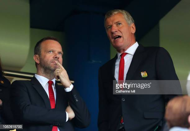 Ed Woodward, executive vice-chairman of Manchester United with David Gill before the Premier League match between Chelsea FC and Manchester United at...