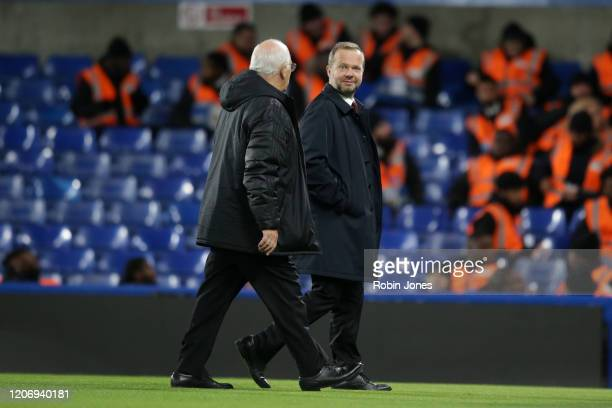 Ed Woodward Manchester Chief Executive at the end of the game during the Premier League match between Chelsea FC and Manchester United at Stamford...