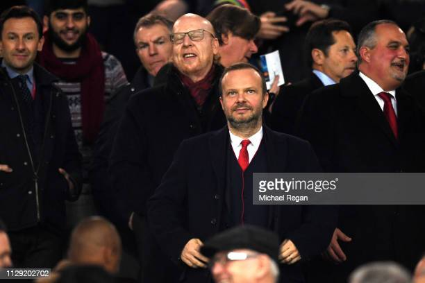 Ed Woodward, owner of Manchester United during the UEFA Champions League Round of 16 First Leg match between Manchester United and Paris...