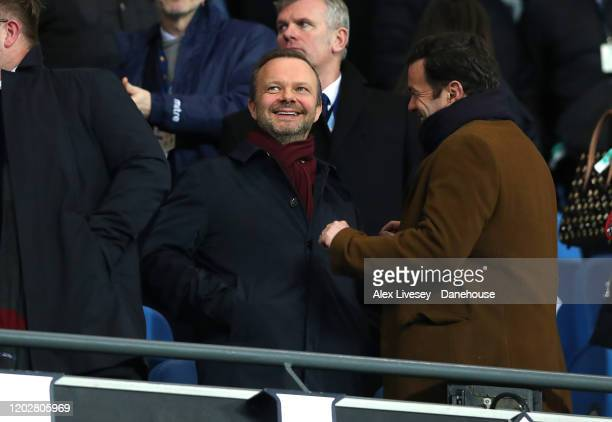 Ed Woodward the executive vicechairman of Manchester United looks on during the Carabao Cup Semi Final match between Manchester City and Manchester...