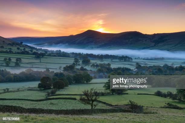 Edale valley dawn. English Peak District. UK.