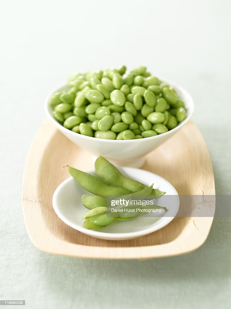 Edamame and soy beans : Stock Photo