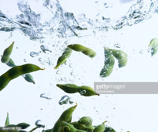 Edamame in boiling water