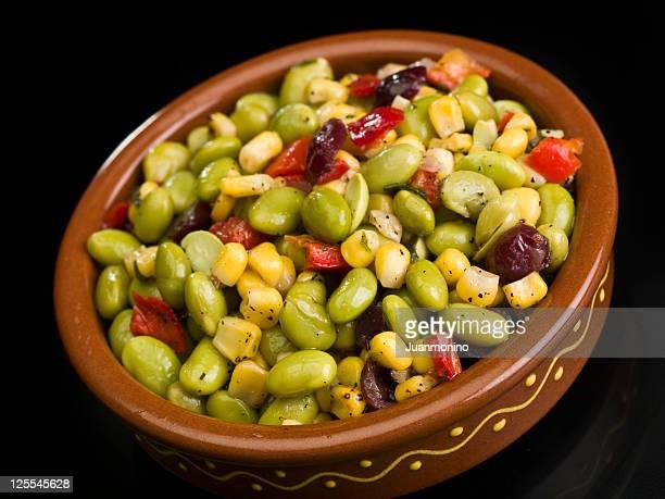 edamame salad - edamame stock pictures, royalty-free photos & images