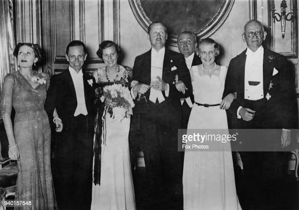 Edda Countess Ciano daughter of Italian dictator Benito Mussolini and wife of Italian Foreign Minister Galeazzo Ciano after presenting the Italian...