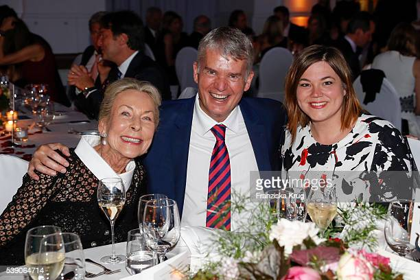 Edda Darboven, Hermann Reichenspurner and Katharina Fegebank attend the 'Das Herz im Zentrum' Charity Gala on June 9, 2016 in Hamburg, Germany.