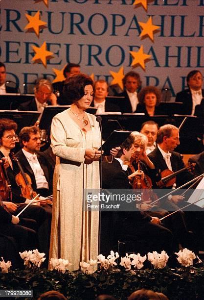 Edda Moser 'Europahilfe fürKinder'Benefiz Gala Theatre Royal de laMonnaie De Munt Brüssel/Belgien