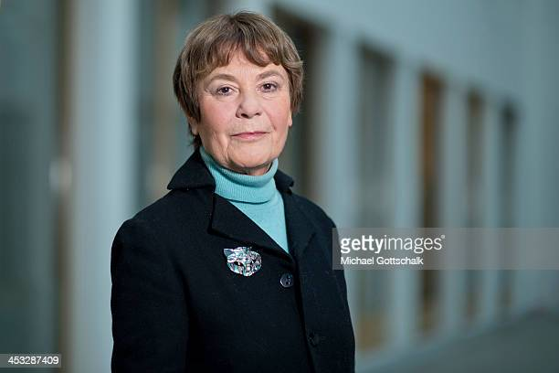 Edda Mueller Chairwomen of NonGovermental Organization Transparency International Deutschland poeses during a portrait session on November 3 2013 in...