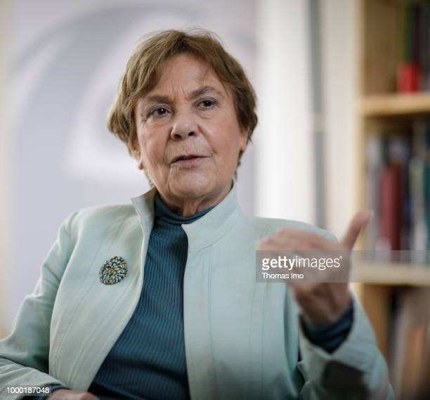 Edda Mueller head of Transparency International during an interview on April 17 2018 in Berlin Germany