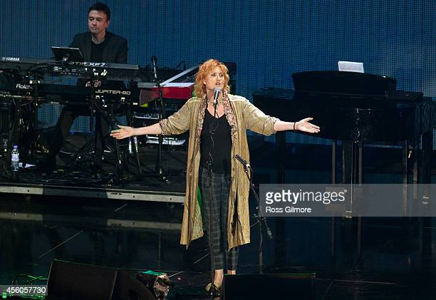 Eddi Reader performs during the Gala Concert 2014 Ryder Cup at The SSE Hydro on September 24 2014 in Glasgow Scotland