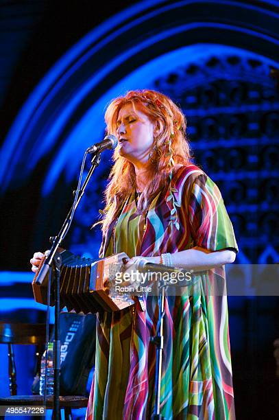 Eddi Reader performs in the London Folk and Roots Festival at the Union Chapel on November 3 2015 in London England