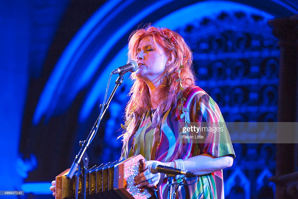 Eddi Reader performs in the London Folk and Roots Festival at the Union Chapel on November 3, 2015 in London, England.