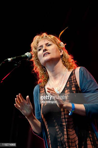 Eddi Reader performs on the main stage during the third day of Wychwood Music Festival at Cheltenham Racecourse on June 5 2011 in Cheltenham United...