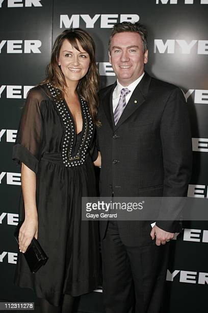 Eddie and Carla McGuire during Myer Spring/Summer Fashion Show 2006 Arrivals at Royal Hall of Industries in Sydney NSW Australia