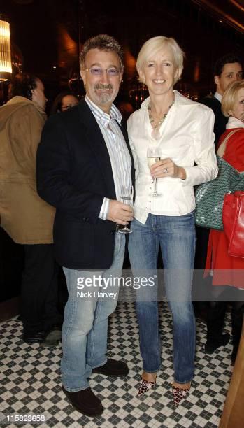 Eddie and Marie Jordan during Frankie's Italian Bar and Grill Opening at 263 Putney Bridge in London Great Britain