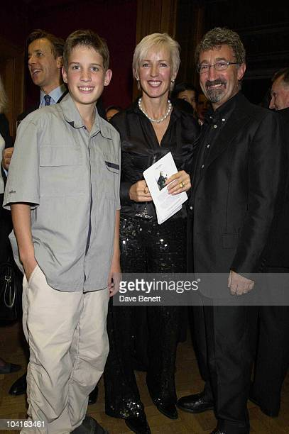 Eddie And Marie Jordan With Their Son Marie And Eddie Jordan Hosted The Clic Charity Auction At Christies In St James London And Raised Over A...