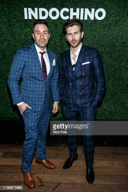 Eddie Anthony and Edan Dover of The Score attend Indochino Los Angeles Spring/Summer '19 Launch Party at SkyBar at the Mondrian Los Angeles on March...