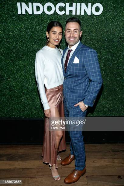 Eddie Anthony and guest attend Indochino Los Angeles Spring/Summer '19 Launch Party at SkyBar at the Mondrian Los Angeles on March 13 2019 in West...