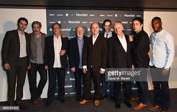 Eddie Arnold Ciaran Hinds Colin Haigh Jim Norton Barry Aird Dan Parr Nigel Carrington Paul Ham and Dwane Walcott attend an after party following the...