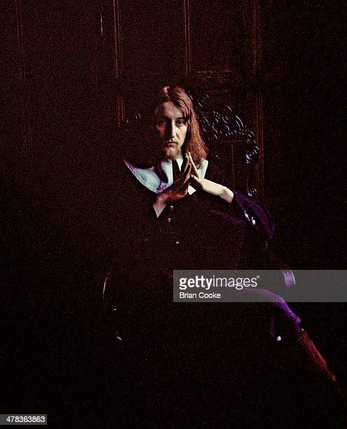 Eddie Baird of Amazing Blondel poses for the Fantasia Lindum album cover at Shibden Hall, Halifax in March 1971.