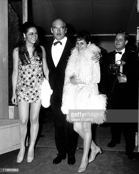 Eddie Barclay with his third wife MarieChristine Steinberg during the Cannes film festival in 1969