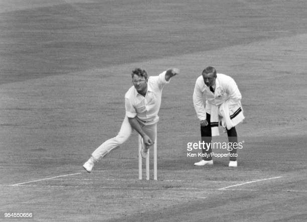 Eddie Barlow of South Africa bowling for Rest of the World XI during the 3rd match of the fivematch series between England and a Rest of the World XI...