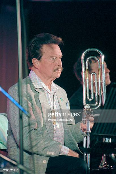 Eddie Bert, trombone, performs on July 16th 2000 at the North Sea Jazz Festival in the Hague, Netherlands.
