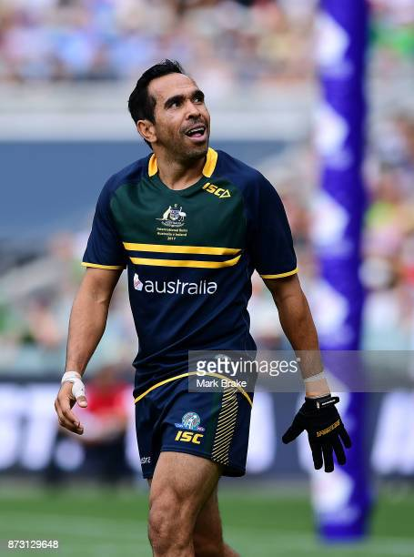 Eddie Betts during game one of the International Rules Series between Australia and Ireland at Adelaide Oval on November 12 2017 in Adelaide Australia