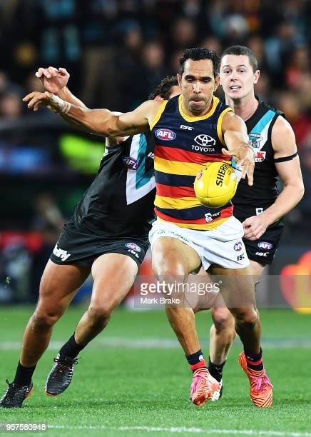 Eddie Betts of the Adelaide Crows during the round eight AFL match between the Port Adelaide Power and the Adelaide Crows at Adelaide Oval on May 12...