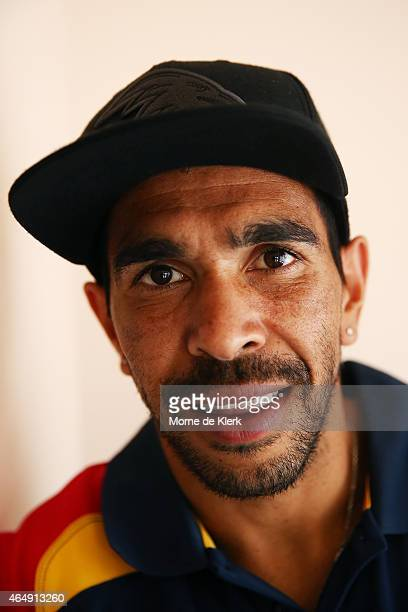Eddie Betts of the Crows poses for a photograph during an Adelaide Crows AFL media opportunity on March 2 2015 in Port Lincoln Australia