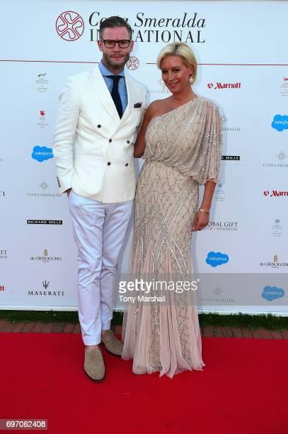 Eddie Boxshall and Denise Van Outen attend The Costa Smeralda Invitational Gala Dinner at Cala di Volpe Hotel - Costa Smeralda on June 17, 2017 in...