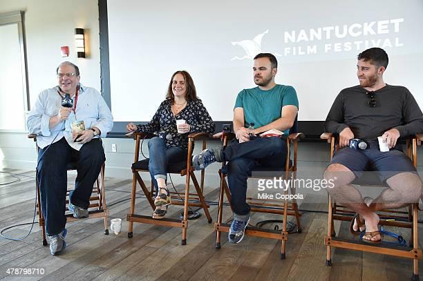 Eddie Brill Elizabeth Giamatti Kyle Patrick Alvarez and Trey Edward Shults attend the Morning Coffee event during the 20th Annual Nantucket Film...