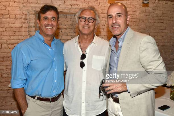 Eddie Burke Jr Eric Fischl and Matt Lauer attend eBay Hosts July 4th Benefit for Sag Harbor Cinema Restoration Project at Lulu Kitchen and Bar on...