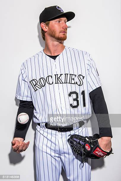 Eddie Butler of the Colorado Rockies poses for a portrait at the Salt River Fields at Talking Stick on February 29 2016 in Sottsdale Arizona