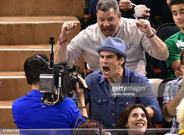 Eddie Cahill attends the Tampa Bay Lightning vs New York Rangers playoff game at Madison Square Garden on May 24 2015 in New York City