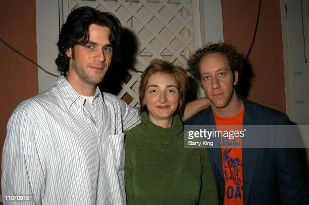 Eddie Cahill Joy Gregory Joey Slotnick during Los Angeles Premiere of A Series of Comedic Lectures by John Lehr at The Powerhouse Theater in Santa...