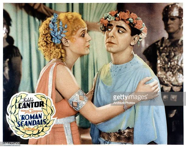 Eddie Cantor is grabbed by woman in a scene from the film 'Roman Scandals' 1933