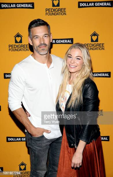Eddie Cibrian and LeAnn Rimes attend PEDIGREE Foundation BBQ Boots Bling Pawty to commemorate their 10year anniversary at Marathon Music Works on...