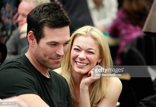 Eddie Cibrian and LeAnn Rimes attend the 8th Annual World Poker Tour Invitational at Commerce Casino on February 20 2010 in City of Commerce...