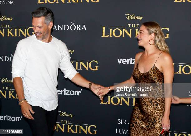 Eddie Cibrian and LeAnn Rimes attend the premiere of Disney's The Lion King at Dolby Theatre on July 09 2019 in Hollywood California