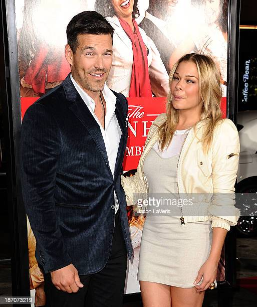 Eddie Cibrian and LeAnn Rimes attend the premiere of The Best Man Holiday at TCL Chinese Theatre on November 5 2013 in Hollywood California