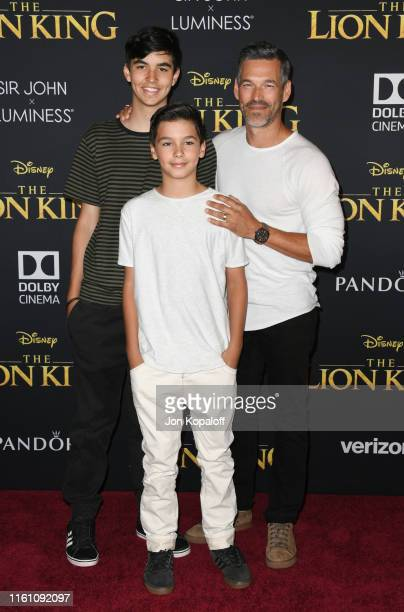 Eddie Cibrian and sons attend the Premiere Of Disney's The Lion King at Dolby Theatre on July 09 2019 in Hollywood California