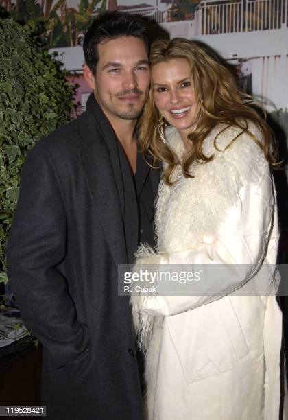 Eddie Cibrian and wife Brandi during Eddie Cibrian was guest of honor as April cover of ReDesigned Men's Health Magazine at Bungalow 8 in New York...