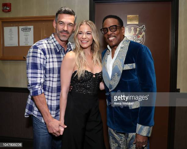 Eddie Cibrian LeAnn Rimes and Charlie Wilson attend An Opry Salute to Ray Charles at The Grand Ole Opry on October 8 2018 in Nashville Tennessee