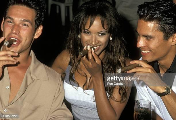 Eddie Cibrian Traci Bingham and Jose Solano during Celebrity Sports Invitational SeaDoo Practice May 23 1997 at Westin Rio Mar Beach Resort in Rio...