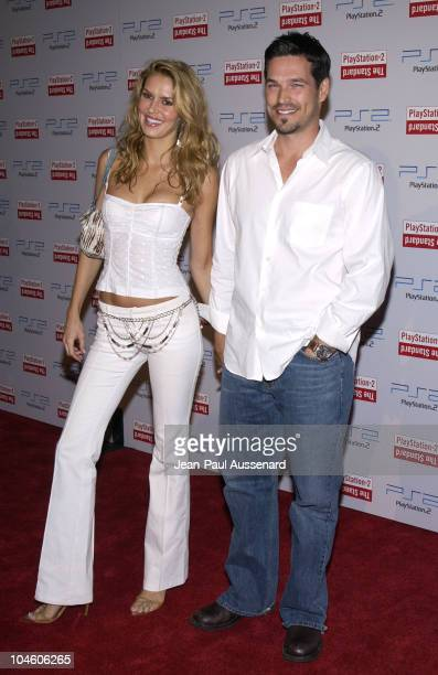 Eddie Cibrian wife Brandy during Playstation 2 Party at The Standard Downtown Los Angeles at The Standard in Los Angeles California United States