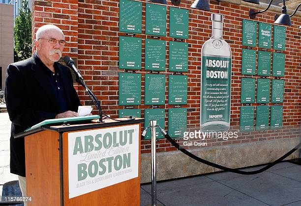 Eddie Doyle attends the unveiling for the ABSOLUT Boston Flavor at Boylston Plaza Prudential Center on August 26 2009 in Boston Massachusetts