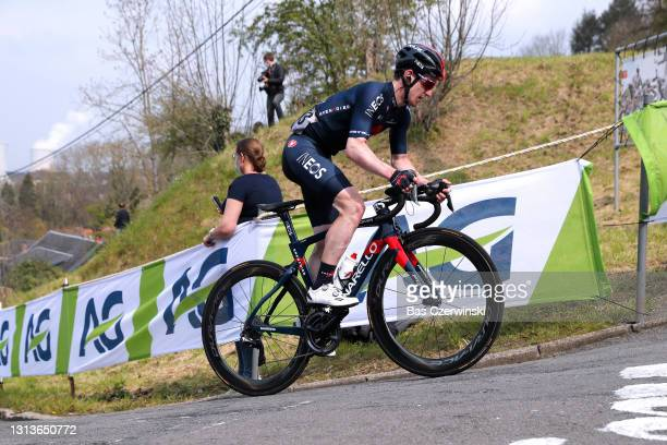 Eddie Dunbar of Ireland and Team INEOS Grenadiers during the 85th La Fleche Wallonne 2021, Men Elite a 193,6km race from Charleroi to Mur de Huy 204m...