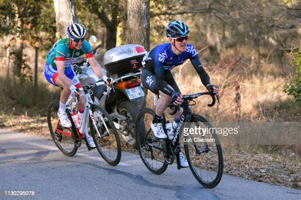 Eddie Dunbar of Ireland and Team Sky / David Gaudu of France and Team Groupama FDJ Green Best Young Jersey / during the 4th Tour de La Provence 2019...